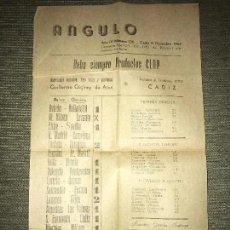 Coleccionismo deportivo: ANTIGUA INVITACION CLUB DEPORTIVO BADAJOZ - AÑO 1946. Lote 205785230