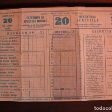 Coleccionismo deportivo: QUINIELA DE 1.962. Lote 205846547