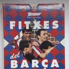 Coleccionismo deportivo: CARPETA CON 39 FICHAS. FITXES DEL BARÇA. F.C BARCELONA. DREAM TEAM. DIARIO SPORT. FUTBOL. AÑOS 90.. Lote 205851051
