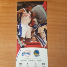 Coleccionismo deportivo: ENTRADA NBA LOS ANGELES CLIPPERS-GOLDEN STATE WARRIORS 9/1/2011 LOTE I. Lote 206353111