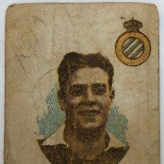 Coleccionismo deportivo: 1920'S - REAL CLUB DEPORTIVO ESPANOL DE BARCELONA - ZAMORA - TARJETA CIGARILLO. Lote 206420140