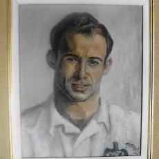 Coleccionismo deportivo: (LLL)CUADRO ORIGINAL PINTOR ROA (1947) DEL JUGADOR DE FUTBOL CÉSAR RODRIGUEZ ALVAREZ (BARÇA). Lote 207209612