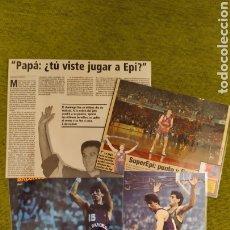 Coleccionismo deportivo: FOTOGRAFÍAS Y RECORTES PLASTIFICADOS DE EPI JUGADOR DEL FÚTBOL CLUB BARCELONA DE BALONCESTO.. Lote 207856412