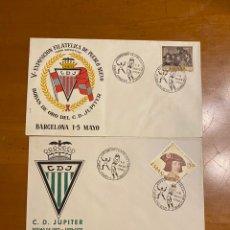 Coleccionismo deportivo: 2 SOBRES C.D.JUPITER. Lote 208167636