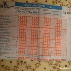 Coleccionismo deportivo: QUINIELA FUTBOL ESPAÑA - 26-1-14. Lote 208306475