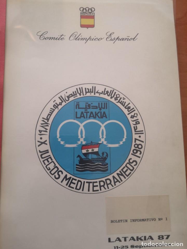 BOLETIN INFORMATIVO JUEGOS MEDITERRÁNEO LATAKIA 87 (Coleccionismo Deportivo - Documentos de Deportes - Otros)