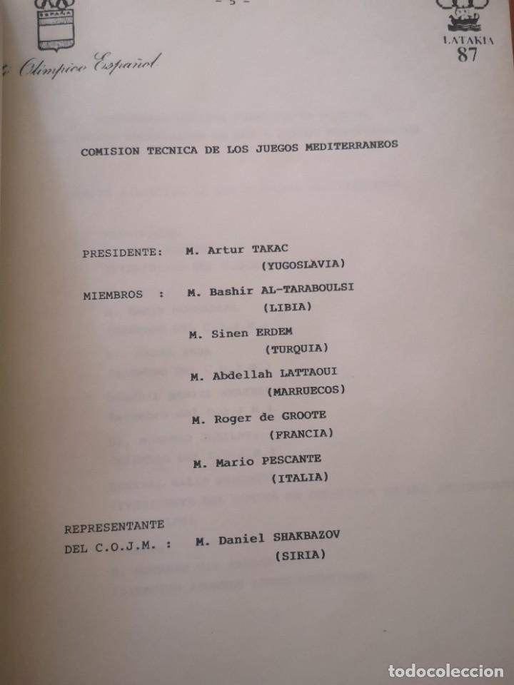 Coleccionismo deportivo: Boletin informativo juegos mediterráneo Latakia 87 - Foto 5 - 208383127