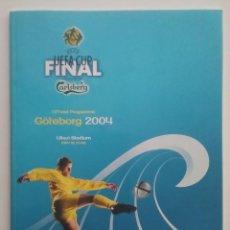 Coleccionismo deportivo: FUTBOL PROGRAMA FINAL UEFA CUP VALENCIA C.F. VS OLYMPIQUE DE MARSEILLE 2004. Lote 208697695