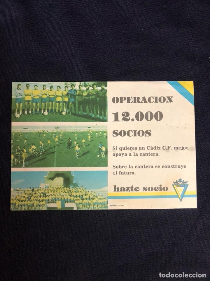 PAPELETILLA PARA LOS SOCIOS DEL CADIZ CF AÑOS 70 (Coleccionismo Deportivo - Documentos de Deportes - Otros)