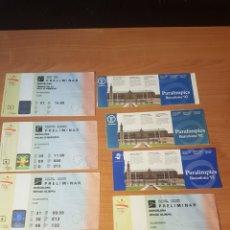 Coleccionismo deportivo: LOTE 8 ENTRADAS JJOO BARCELONA 92(4 ENTRADAS), PARALIMPICOS 92(3 ENTRADAS) EXPO SEVILLA 92. Lote 209850305