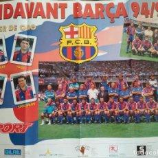 Coleccionismo deportivo: POSTER SPORT FC BARCELONA ENDAVANT BARÇA 94/95. Lote 209974742