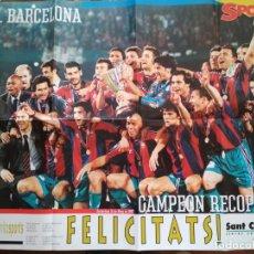 Coleccionismo deportivo: POSTER SPORT FC BARCELONA BARÇA CAMPEON RECOPA 1996-97. Lote 209976200