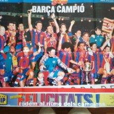 Coleccionismo deportivo: POSTER SPORT FC BARCELONA BARÇA CAMPIÓ LLIGA 1997-98. Lote 209976233
