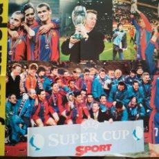 Coleccionismo deportivo: POSTER SPORT FC BARCELONA BARÇA CAMPIÓ SUPERCOPA REY DE EUROPA. Lote 209976261