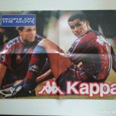 Coleccionismo deportivo: POSTER PUBLICITARIO KAPPA FC BARCELONA BARÇA RIVALDO. Lote 209976623