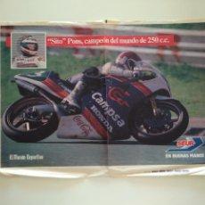 Coleccionismo deportivo: POSTER SITO PONS CAMPEON DEL MUNDO DE 250 CC. Lote 209977268