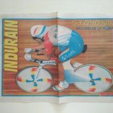 Coleccionismo deportivo: POSTER SPORT MIGUEL INDURAIN RECORD DE LA HORA. Lote 209977938