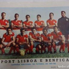 Coleccionismo deportivo: SPORT LISBOA E BENFICA. FOTO EDIÇAO DO CAVALEIRO ANDANTE. 24 X 18 CTMS.. Lote 210026552