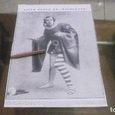 Coleccionismo deportivo: RECORTE AÑO 1909 - MADRID.EN TEATRO REAL CANTÓ TITTA RUFFO SU ÓPERA FAVORITA RIGOLETTO. Lote 210474686