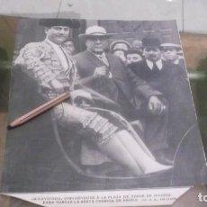 Coleccionismo deportivo: RECORTE AÑO 1909 - MADRID.EL TORERO BIENVENIDA SE DIRIGE Á LA PLAZA DE TOROS. Lote 210474946