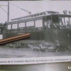 Coleccionismo deportivo: RECORTE AÑO 1909 - MADRID.INAGURACIÓN TRANVIA ELÉCTRICO COMPAÑIA MADRILEÑA DE URBANIZACIÓN. Lote 210475952