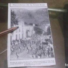 Coleccionismo deportivo: RECORTE AÑO 1909 - BARCELONA.MANIOBRAS DE LA CRUZ ROJA DESDE BARCELONA Á VALLIRANA. Lote 210476491