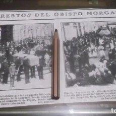 Coleccionismo deportivo: RECORTE AÑO 1909 - BARCELONA.LOS RESTOS DEL OBISPO MORGADES TRASLADADO A RIPOLL(GERONA). Lote 210476820