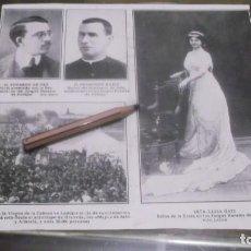 Coleccionismo deportivo: RECORTE AÑO 1909-ANDÚJAR(JAÉN)SRT.LUISA ORTI ,REINA JUEGOS FLORALES .ERMITA VIRGEN DE LA CABEZA. Lote 210519070