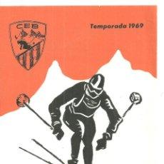 Colecionismo desportivo: 4019.- ESQUI - CLUB ESQUI BERGUEDÀ TEMPORADA 1969 - DIPTIC AMB LES PROVES SOCIALS. Lote 210577797