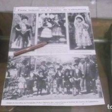 Coleccionismo deportivo: RECORTE AÑO 1909 - SEVILLA.LA FERIA,FIESTA INFANTIL EN CASINO LABRADORES .ATRAS ROMA JUANA DE ARCO. Lote 210594255