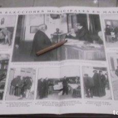 Coleccionismo deportivo: RECORTE AÑO 1909 - MADRID .LAS ELECCIONES MUNICIPALES .ATRAS MUERTE BANDERILLERO LAGARTIJILLA. Lote 210597026