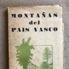 Collezionismo sportivo: MONTAÑAS DEL PAÍS VASCO, TRAVESÍAS MONTAÑERAS 1958. EDICIONES CUMBRE. 96 PÁGINAS. CON PLANOS.. Lote 132144006
