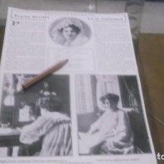 Coleccionismo deportivo: RECORTE AÑO 1909 - LA BAILARINA ESPAÑOLA Y COUPLETISTA PEPITA SEVILLA .ALICANTE FIESTA LITERARIA. Lote 210688307
