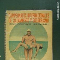 Collectionnisme sportif: CAMPEONATOS INTERNACIONALES DE SALVAMENTO Y SOCORRISMO. - GUÍA -1960. Lote 210953421