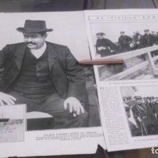 Coleccionismo deportivo: RECORTE AÑO 1909 . CADIZ. LLEGÓ EL BANDOLERO JOAQUIN CAMARGO GOMEZ(EL VIVILLO)ESTEPA(SEVILLA). Lote 211426406