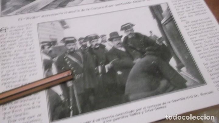 Coleccionismo deportivo: RECORTE AÑO 1909 . CADIZ. LLEGÓ EL BANDOLERO JOAQUIN CAMARGO GOMEZ(EL VIVILLO)ESTEPA(SEVILLA) - Foto 3 - 211426406