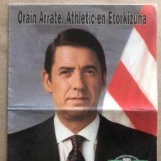 Coleccionismo deportivo: ELECCIONES DEL ATHLETIC CLUB BILBAO (1994). PROGRAMA ELECTORAL DE JOSÉ MARÍA ARRATE.. Lote 211443286