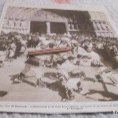 Coleccionismo deportivo: RECORTE AÑO 1933 - TARRAGONA. EN CATEDRAL TIPICO BALL DE BASTONETS EN LAS FIESTAS DE SANTA TECLA. Lote 211605277