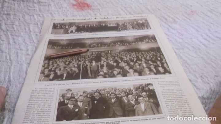 Coleccionismo deportivo: RECORTE AÑOS 1930 - BILBAO.MITÌN DE LA UNIÓN MONARQUICA NACIONAL.ATRAS ZARAGOZA INDALENCIO PRIETO - Foto 4 - 211824925