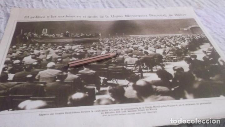 Coleccionismo deportivo: RECORTE AÑOS 1930 - BILBAO.MITÌN DE LA UNIÓN MONARQUICA NACIONAL.ATRAS ZARAGOZA INDALENCIO PRIETO - Foto 5 - 211824925