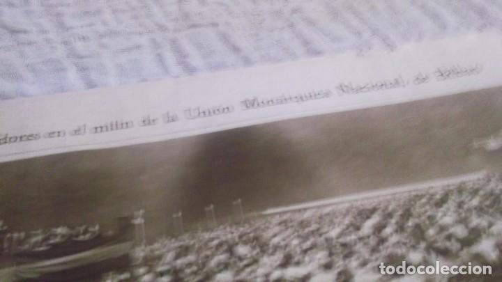 Coleccionismo deportivo: RECORTE AÑOS 1930 - BILBAO.MITÌN DE LA UNIÓN MONARQUICA NACIONAL.ATRAS ZARAGOZA INDALENCIO PRIETO - Foto 6 - 211824925