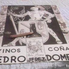 Collectionnisme sportif: RECORTE PUBLICIDAD AÑO 1935 - VINOS Y BRANDY-COÑAC -PEDRO DOMECQ- JEREZ- HAGAMOS RAZA-DBJ.ARRIBAS B.. Lote 211976737
