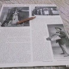 Coleccionismo deportivo: RECORTE AÑO 1915.OVIEDO(ASTURIAS)LA COFRADIA DE LA BALESQUIDA,EL POPULAR PREGONERO ANDRÉS. Lote 212303837