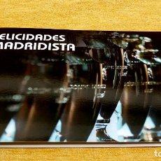 Coleccionismo deportivo: FELICIDADES MADRIDISTA - FELICITACIÓN REAL MADRID DE FUTBOL CON LAS PLANTILLAS CAMPEONAS. Lote 212360522