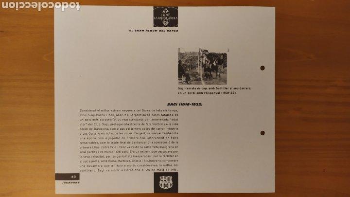 Coleccionismo deportivo: LÁMINA DE SAGI DE LA COLECCIÓN EL GRAN LIBRO DEL BARÇA DE LA VANGUARDIA. FC BARCELONA - Foto 2 - 213102937