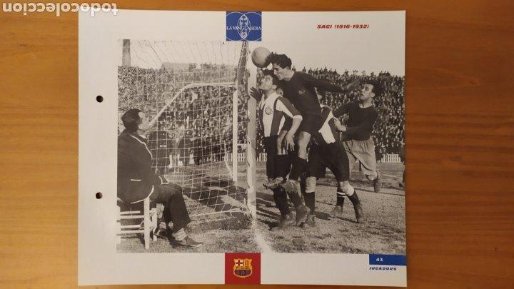 LÁMINA DE SAGI DE LA COLECCIÓN EL GRAN LIBRO DEL BARÇA DE LA VANGUARDIA. FC BARCELONA (Coleccionismo Deportivo - Documentos de Deportes - Otros)