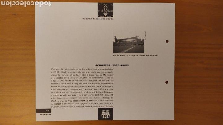 Coleccionismo deportivo: LÁMINA DE SCHUSTER DE LA COLECCIÓN EL GRAN LIBRO DEL BARÇA DE LA VANGUARDIA. FC BARCELONA - Foto 2 - 213103123
