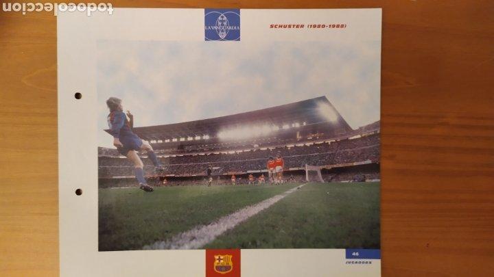 LÁMINA DE SCHUSTER DE LA COLECCIÓN EL GRAN LIBRO DEL BARÇA DE LA VANGUARDIA. FC BARCELONA (Coleccionismo Deportivo - Documentos de Deportes - Otros)
