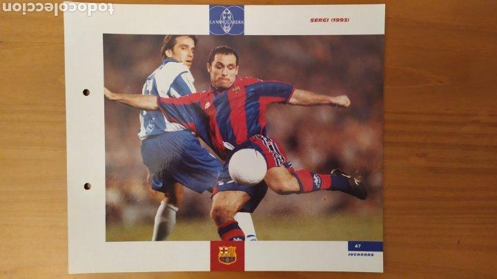 LÁMINA DE SERGI DE LA COLECCIÓN EL GRAN LIBRO DEL BARÇA DE LA VANGUARDIA. FC BARCELONA (Coleccionismo Deportivo - Documentos de Deportes - Otros)