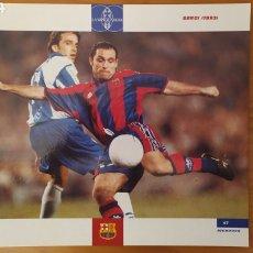 Coleccionismo deportivo: LÁMINA DE SERGI DE LA COLECCIÓN EL GRAN LIBRO DEL BARÇA DE LA VANGUARDIA. FC BARCELONA. Lote 213103183